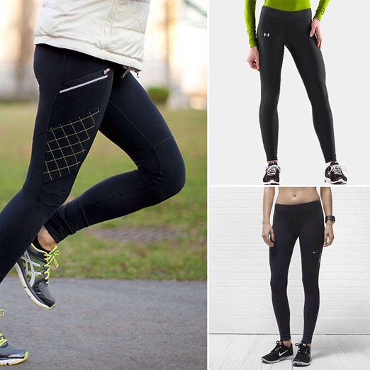 Joggers ,leggings ,or running pants are great to run in because they're stretchy and of its colder your legs will stay warm