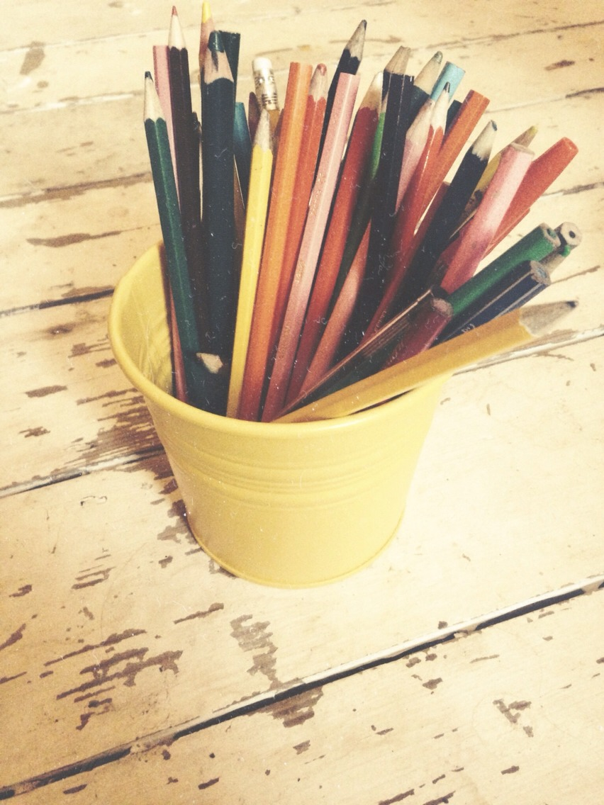 Anything in a house that's tucked away and unused can be made cute and vintage, like an old plant pot. Whether it's rustic and rusted or new and shining, plant pots are perfect for stationary or makeup brushes