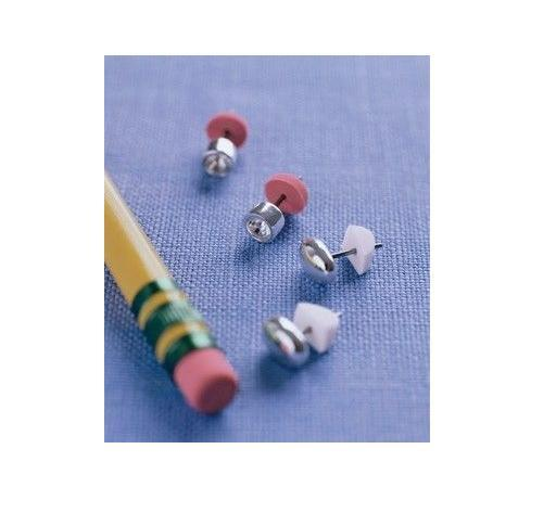 Lost the back to your favourite earring? Use a pencil eraser instead! -