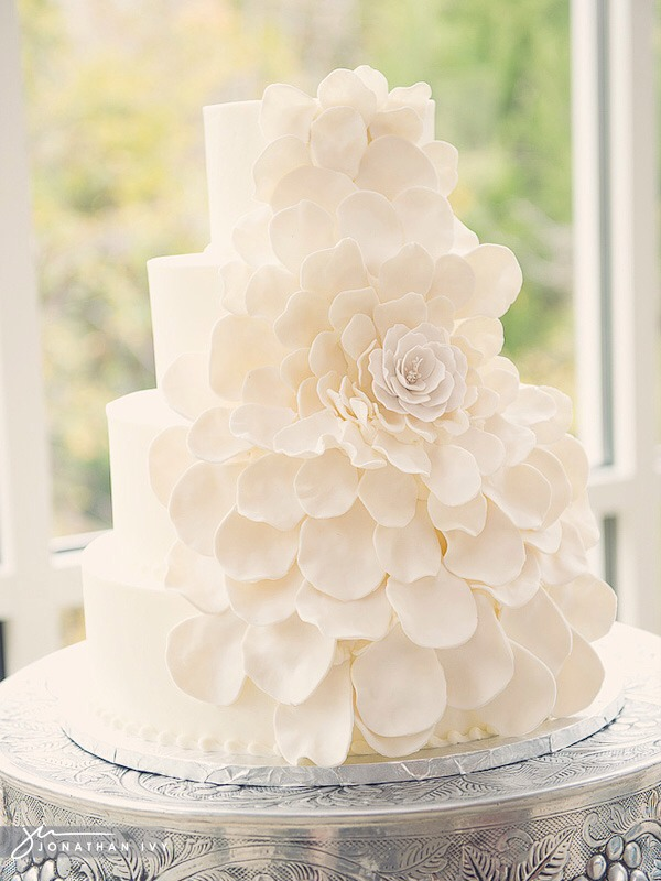 wedding cakes traditionally white musely 25749