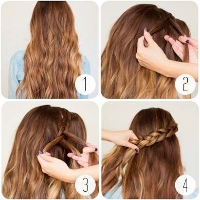 how to make hair style at home easy braided half up do musely 4652