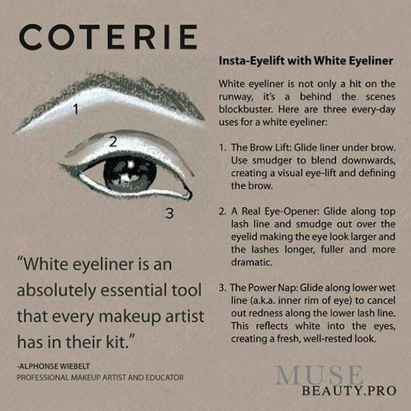 12. Learn all of the things you can do with white eyeliner. It's a great highlighting tool to really open up your eyes.