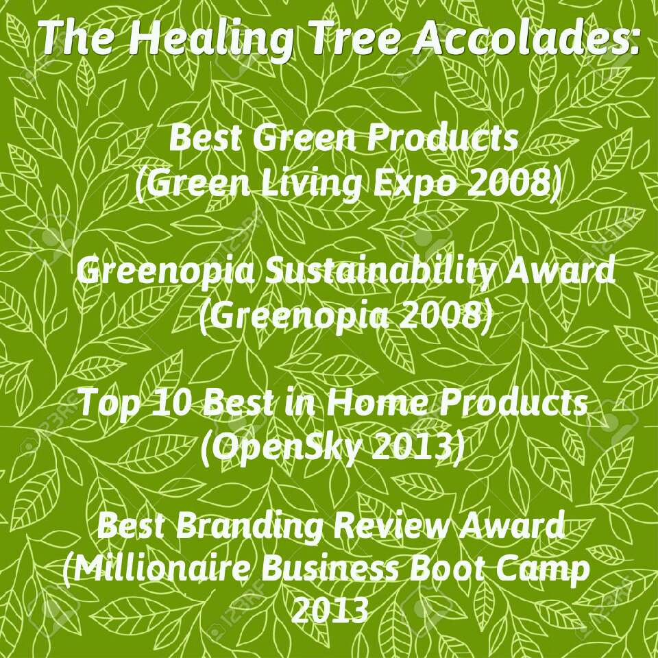 The Healing Tree is a quality company that is committed to quality, green products. 🙌