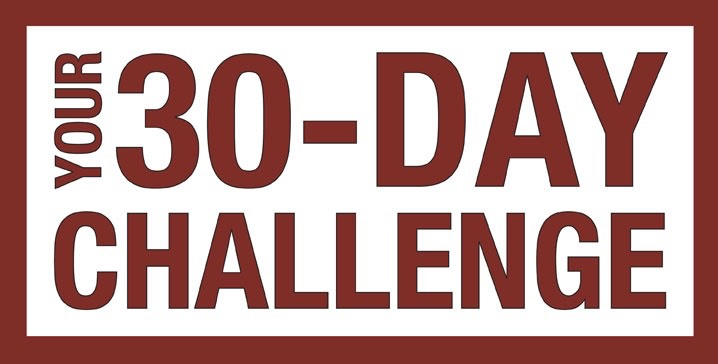 Do this for 30 days! No cheating! Do you accept your challenge?!