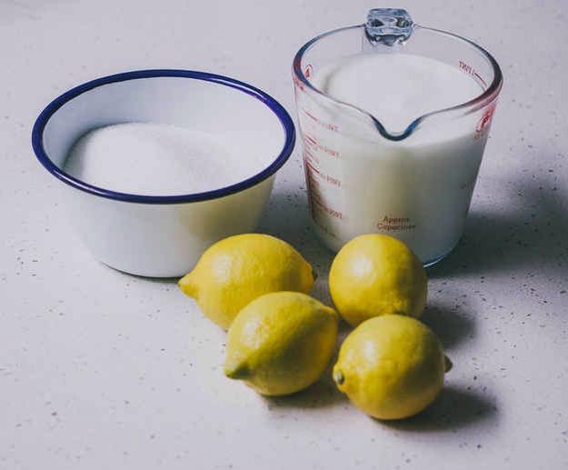 You will need : sugar lemon juice and peel buttermilk