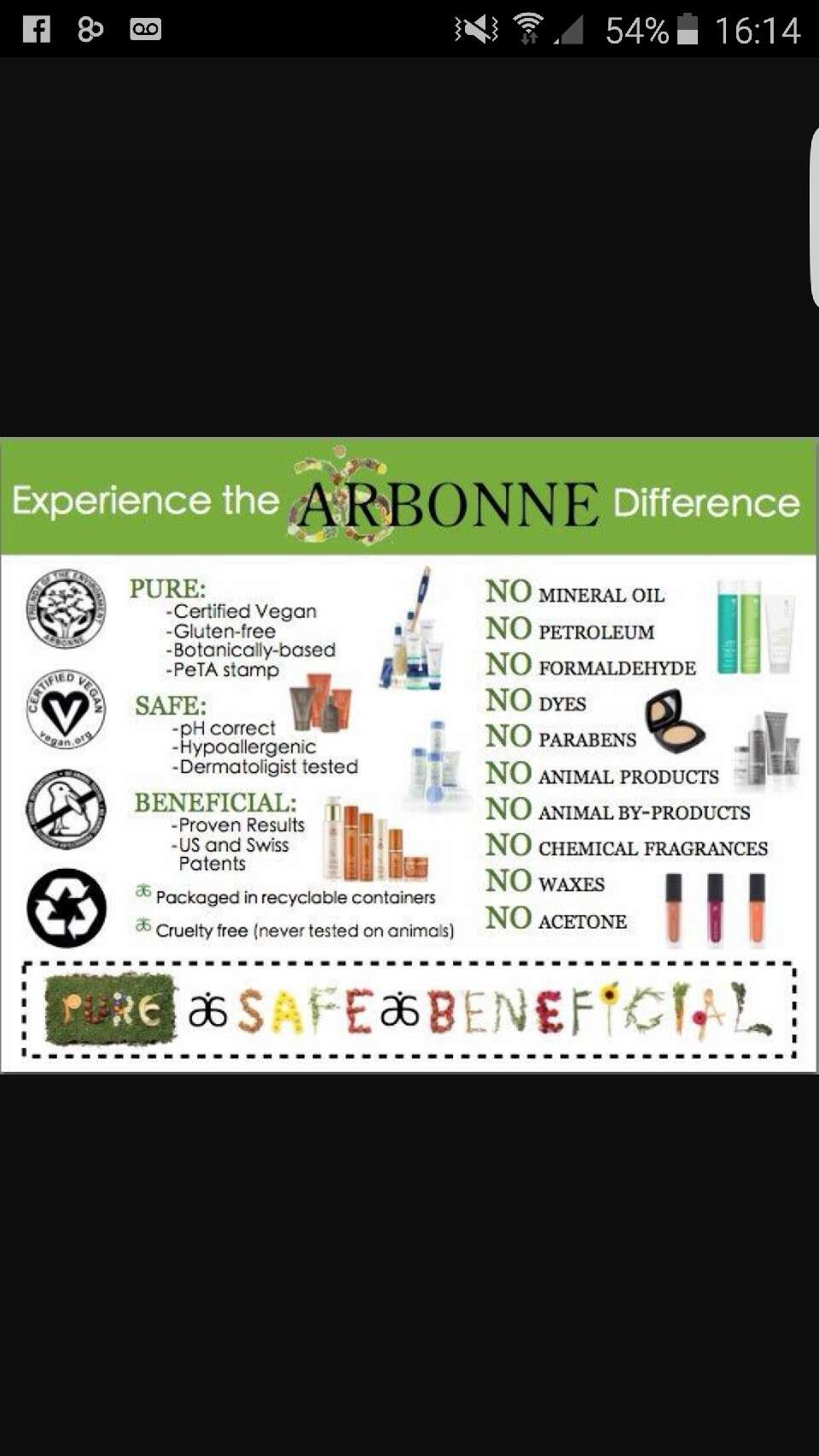 Arbonne- can you ask for anything else