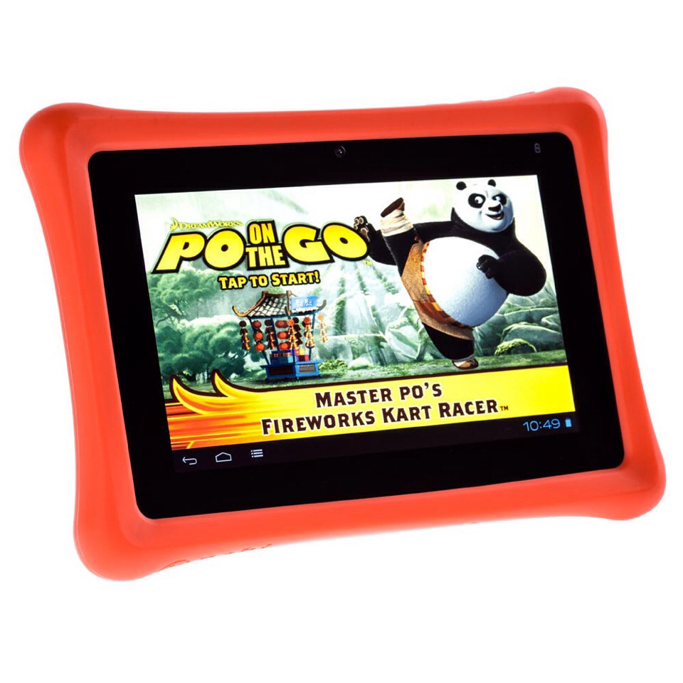 A Nabi is good for kids 3-5. It encourages learning, and you can download apps and better yet, you can add parental controls. It comes with a red case and in most cases, crack resistant. :)
