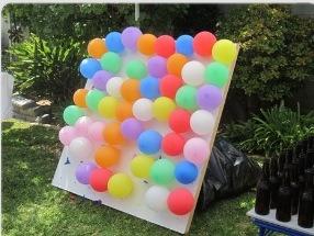 Balloon Dart Board! So much fun for everyone!