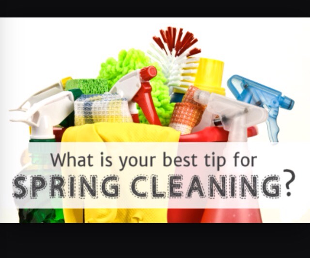 Comment on the next page your suggestions for great spring cleaning!! :)