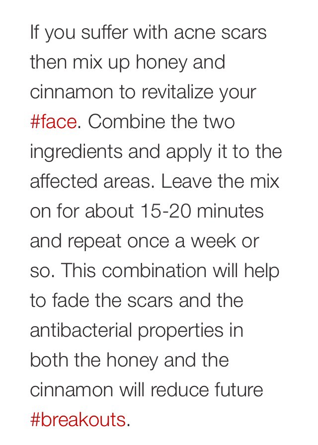 8. Acne mask with honey