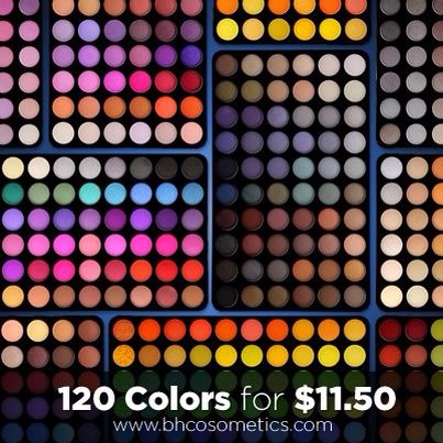 BH cosmetics has an awesome sale going on right now 120 colors for 11.50!!! That's insane there colors are beautiful and have great pigmentation I've bought several of their kits :)