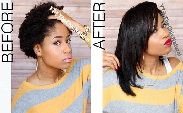 9. Check out this genius twist-and-gel trick to flat-iron natural hair without blow-drying it first. (https://www.youtube.com/watch?v=OwEzNDS5j-I)