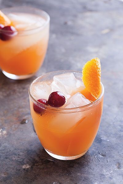 --> Serves 6 3 cups cranberry juice 1 cup cranberry-infused vodka 1 cup orange juice 1 orange, sliced  -> In a tall pitcher, combine all ingredients, and keep in the fridge until ready to serve. Pour into glasses filled with ice.