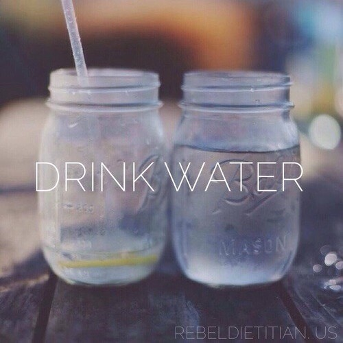 -always bring water. studies have shown that if you have water, you are more likely to do better