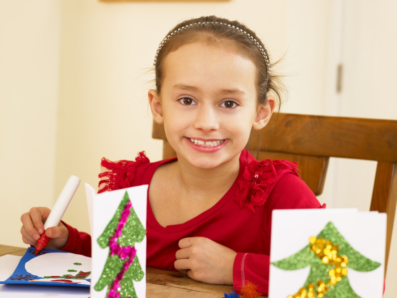 Make gifts with kids - you don't even need your own.  If you have nieces or nephews or offer to watch a friend's kids and set up different crafts to make.  You can make ornaments, treats or homemade gifts.  This Is also a great experience for kids and to talk about the gift of giving and family.