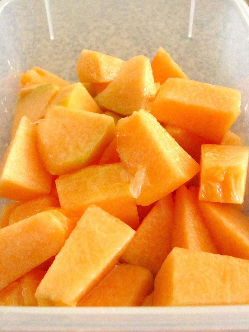 Cut up cantaloupe and throw on top then put a layer of yogurt on top