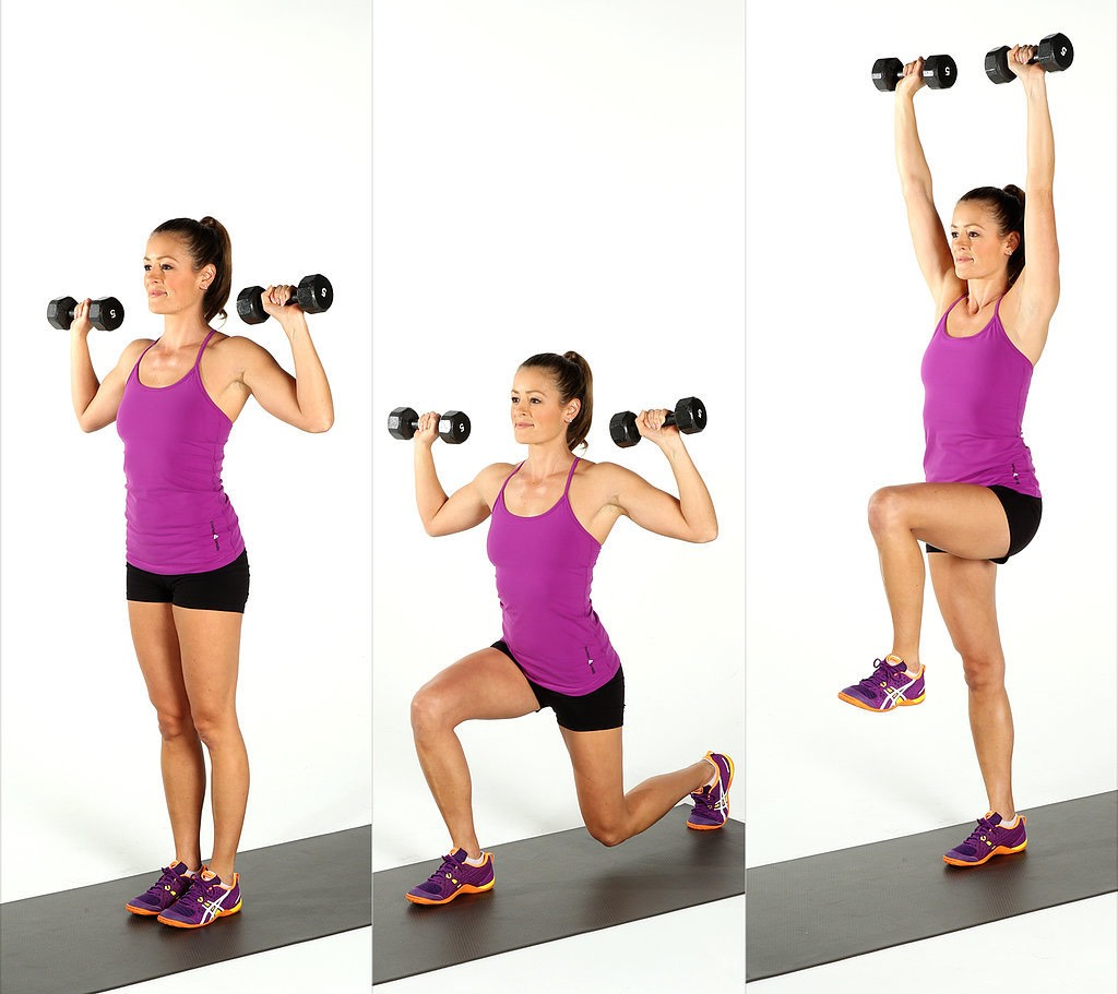 10 reverse lunges  (Each side) (equipment optional)