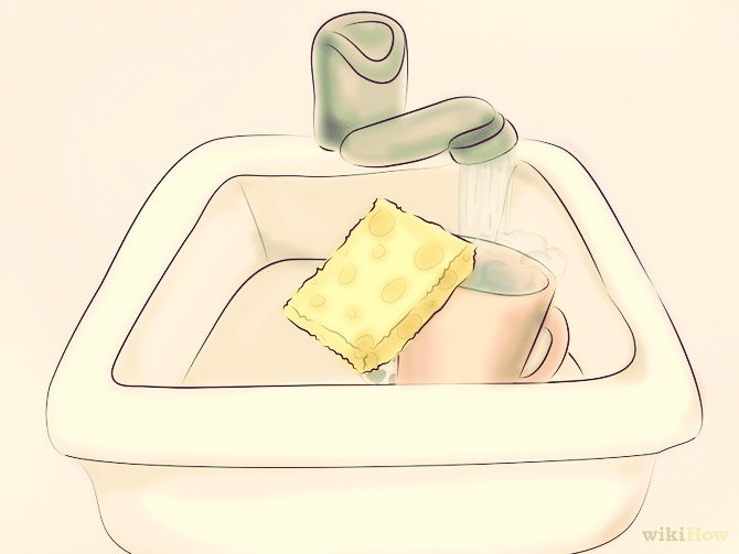 Just grab a cloth some cold water (recommended) and baking soda
