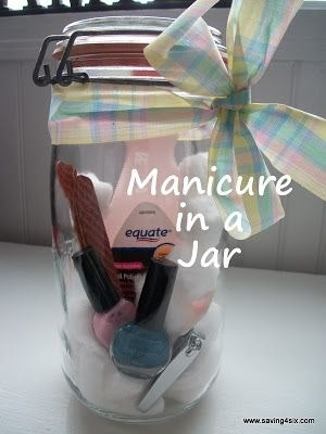 Manicure in a Jar for gifts to your friends.