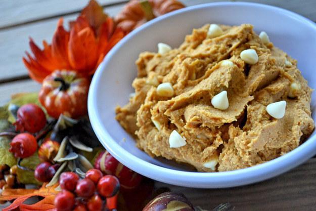 7. Healthy Pumpkin Cookie Dough  https://spoonuniversity.com/cook/3-easy-pumpkin-desserts-50-calories/?utm_source=buzzfeed&utm_medium=referral&utm_campaign=content-partnerships