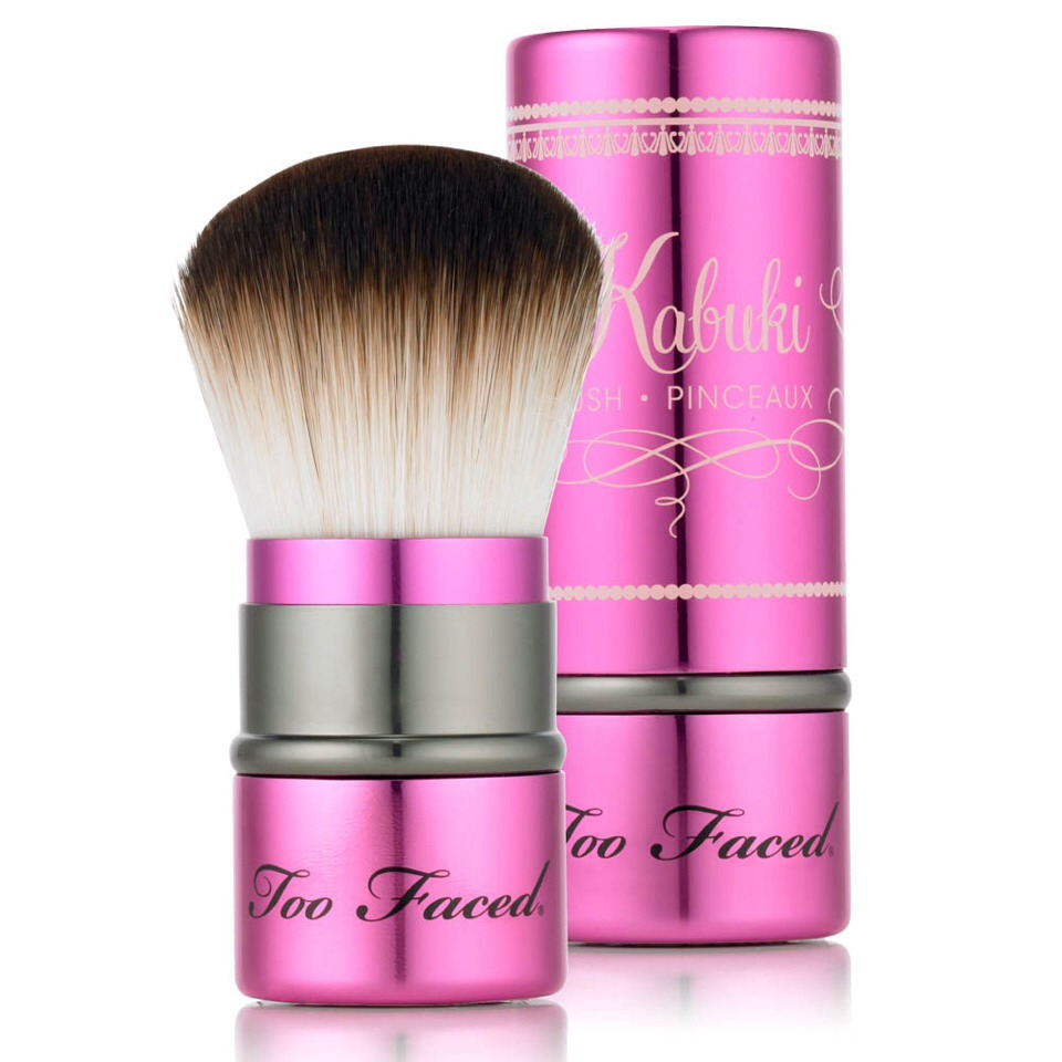 You'll get that airbrushed look if you use a kabuki brush to apply foundation. It gives you a smoother look than using your fingers and it doesn't absorb the foundation like when you use sponges. You can use it for powder and liquid foundation.