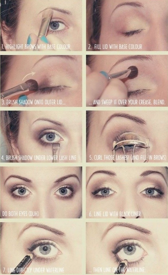 Don't forget to curl and apply mascara to your lashes!