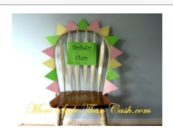 """5: have a Happy Birthday banner. These are easy to makeup and there are templates on the internet as well.  6: decorate their kitchen chair like a thrown with a sign that says """"birthday chair"""""""