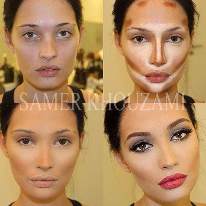 I think it could have been blended better to look less cakey but this is a good example f how it can be done.