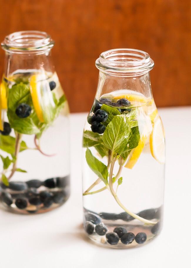 Blueberry lemon mint