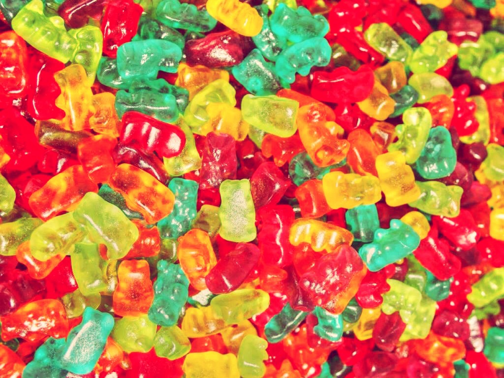 """Gummy bears and gummy vitamins,along with many other """"gummy"""" foods, contain gelatin."""