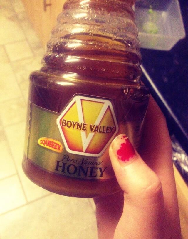 and one teaspoon of honey!