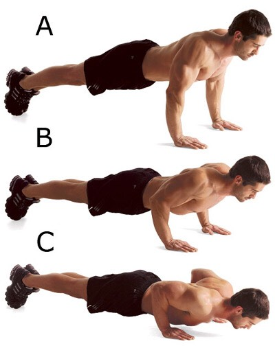 Four sets of 25 push ups