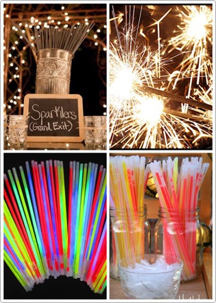 Entertain guests of all ages with sparklers (or provide glow sticks as a safer alternative)