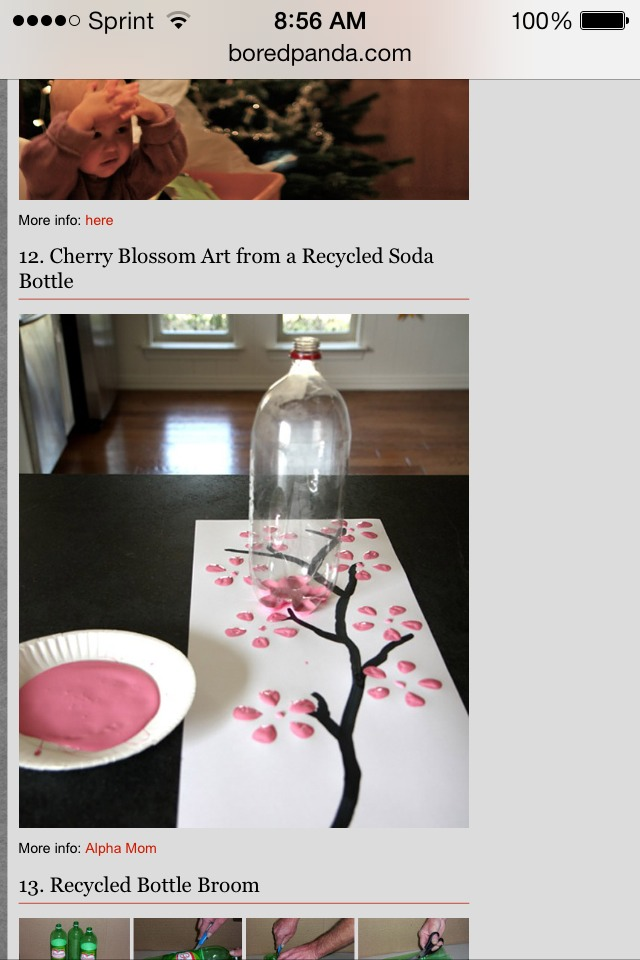 Use an old soda can to paint flowers on a tree.