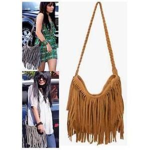 over the shoulder fringe purse