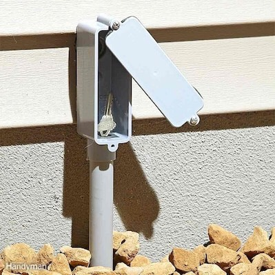 8. LB Fitting  Rig a fake LB fitting on the side of your home and use it to stash a spare key. via The Family Handyman