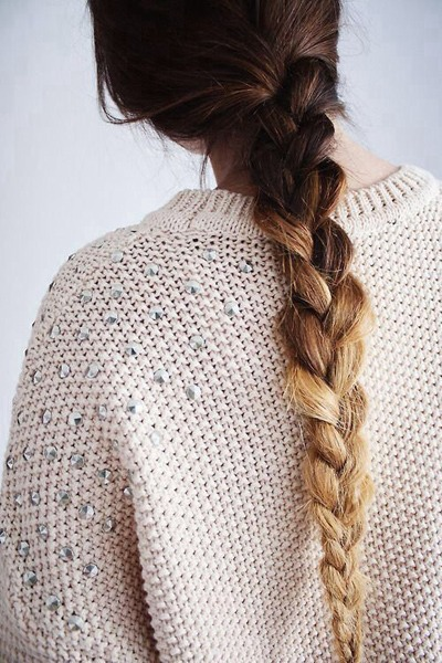Another example of how versatile a standard braid can be, this one has extra flair thanks to a dramatic ombré.