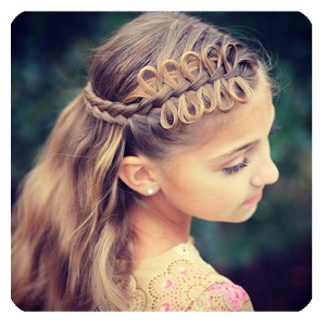 The YouTube channel is called Cute Girls Hairstyles (CGH)