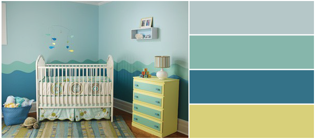 Another easy pick is simple wave patterns. Pick more than 2 colors to make it not boring to look at.