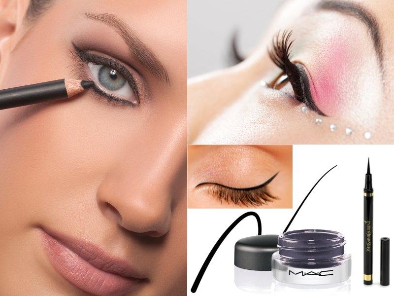 DOapply eyeliner as close to the lash line as possible. A soft black, grey, or charcoal brown shade can beautifully enhance your lashes and frame your eye. Be sure to get the liner between the lashes; it's helpful to use a magnifying mirror to be sure you place it exactly. If the outer corners of your eyelids have begun to droop, make sure the eyeliner turns up ever-so-slightly, so you DON'T emphasize the drooping.
