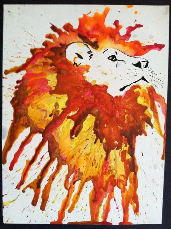 30 Cool Melted Crayon Art Ideas By Haley Barber Musely