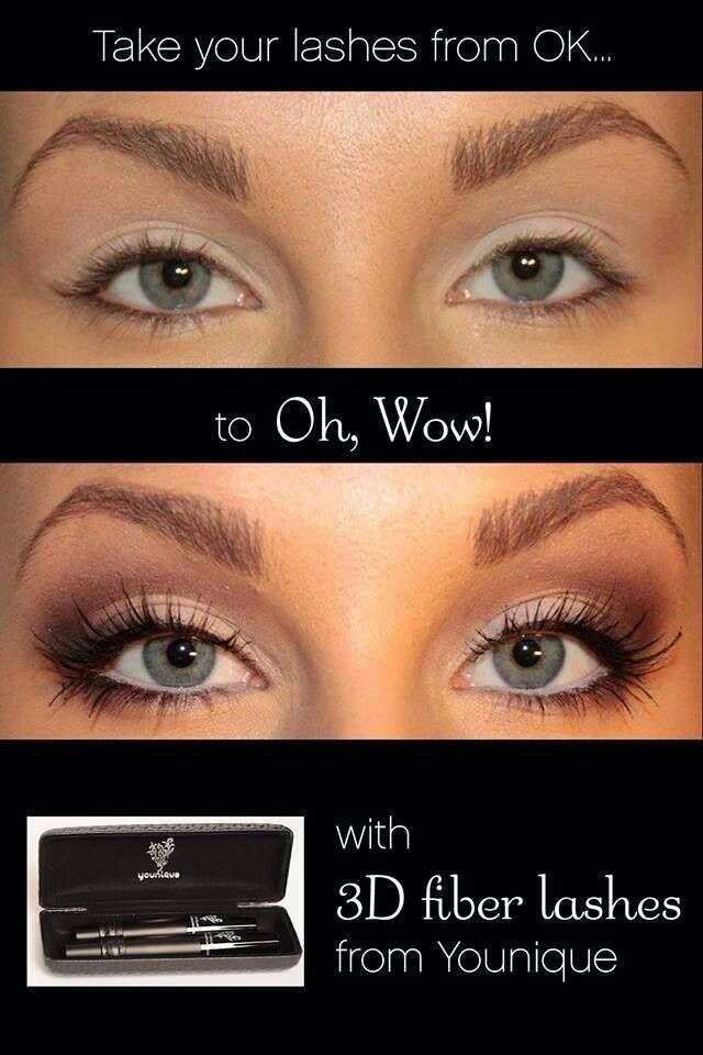 Just look at the difference between regular mascara and our 3D fiber lashes!