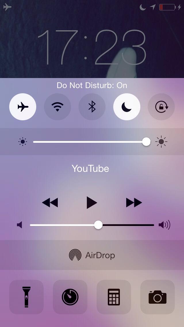 Put on do not disturb...