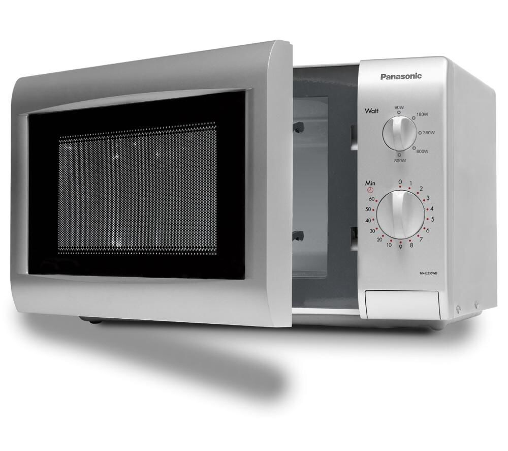 1-Fill a microwave-safe glass or bowl half full of water. Add a tablespoon of white vinegar. 2-Place inside the microwave. 3-Turn on for 5 minutes. You may need less time in a high-powered microwave oven; keep an eye on it the first time you try this.