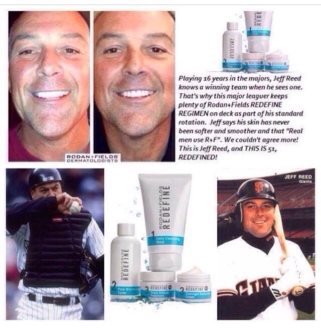 Jeff Reed knows a winning team when he sees one that's why he keeps his REDEFINE regimen on deck as part of his standard rotation. So fellas our regimens are not just for the ladies, Real Men use Rodan+Fields too!