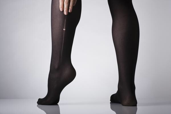starting to get a hole in your tights? put a dab of clear nail polish on it to make them last longer.