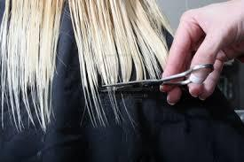Don't trim too often. Many times you will need to cut your hair ends every 6-8 weeks to get rid of your split ends. At minimum, you should be cutting 1/2 and inch off your hair (your split ends) every 3-4 months.