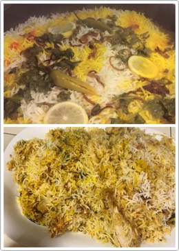Finally it's done 🍲 Yummy yummy chicken biryani 😍