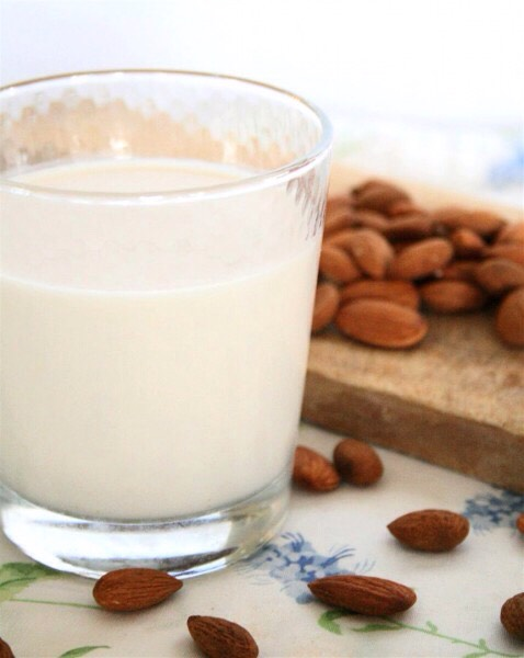 2/3 cup of fresh almond or coconut milk