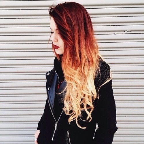 Red To Blonde Ombré